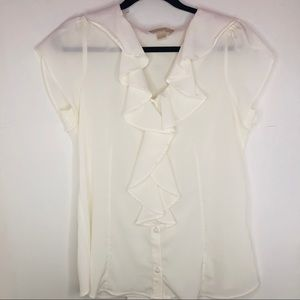 Banana republic women's ruffle blouse